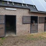 Paardenstal met zonnepanelen